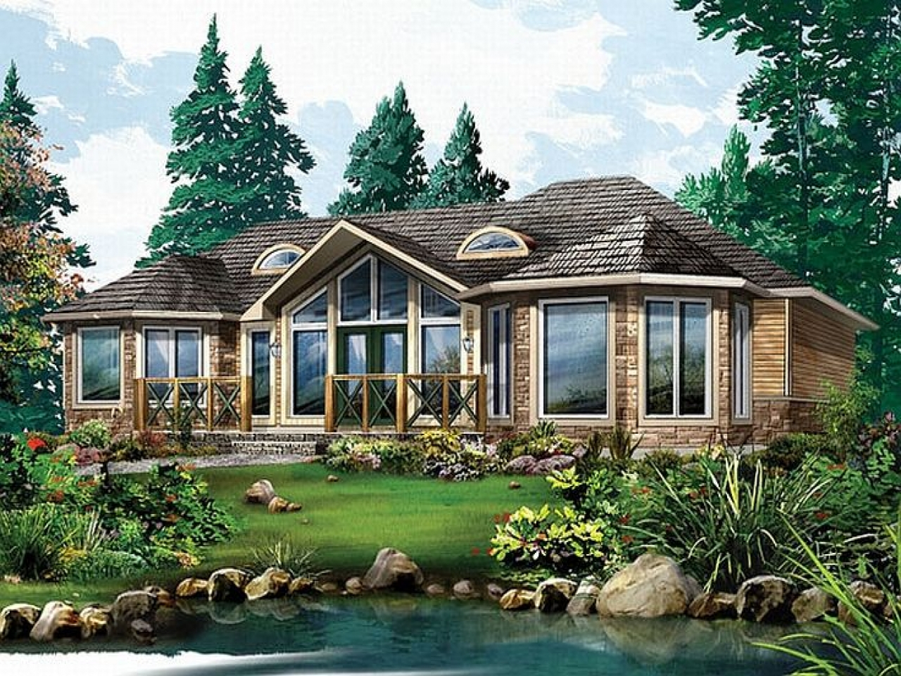 Open Concept Cottage Homes Country Home Plans Open Concept