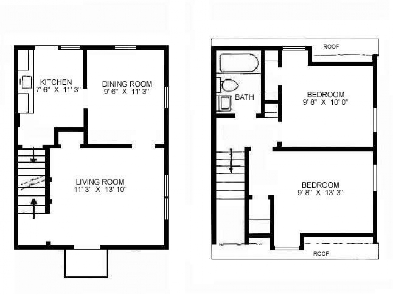 Narrow duplex house plans small duplex floor plans small for 3 bedroom duplex plans