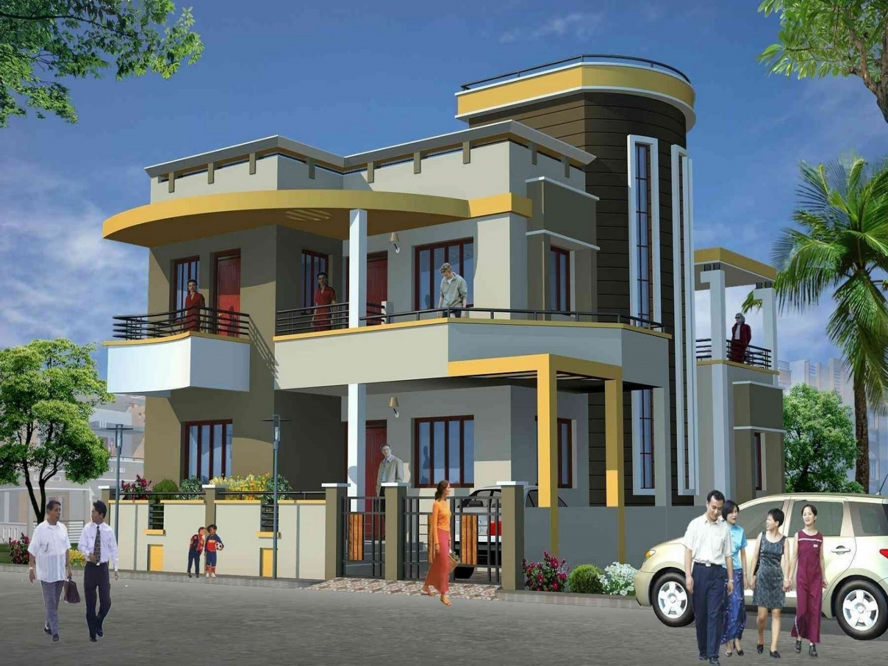 Architectural design home house plans residential for Indian house design architect