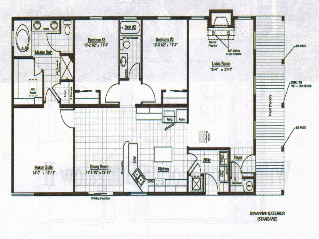 Bungalow home design floor plans bungalow house plans with for Bungalow floor plans canada
