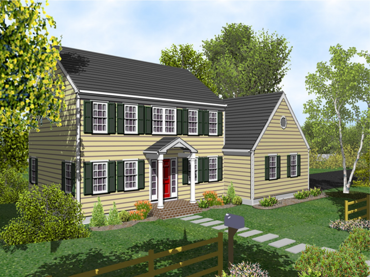 2 story colonial house plans twostory colonial house with
