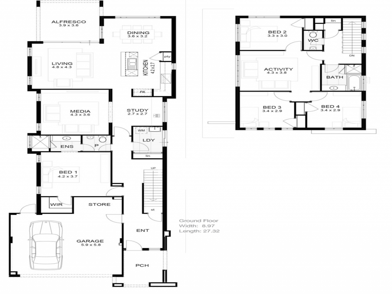 Lot narrow plan house designs craftsman narrow lot house for Shallow lot ranch house plans