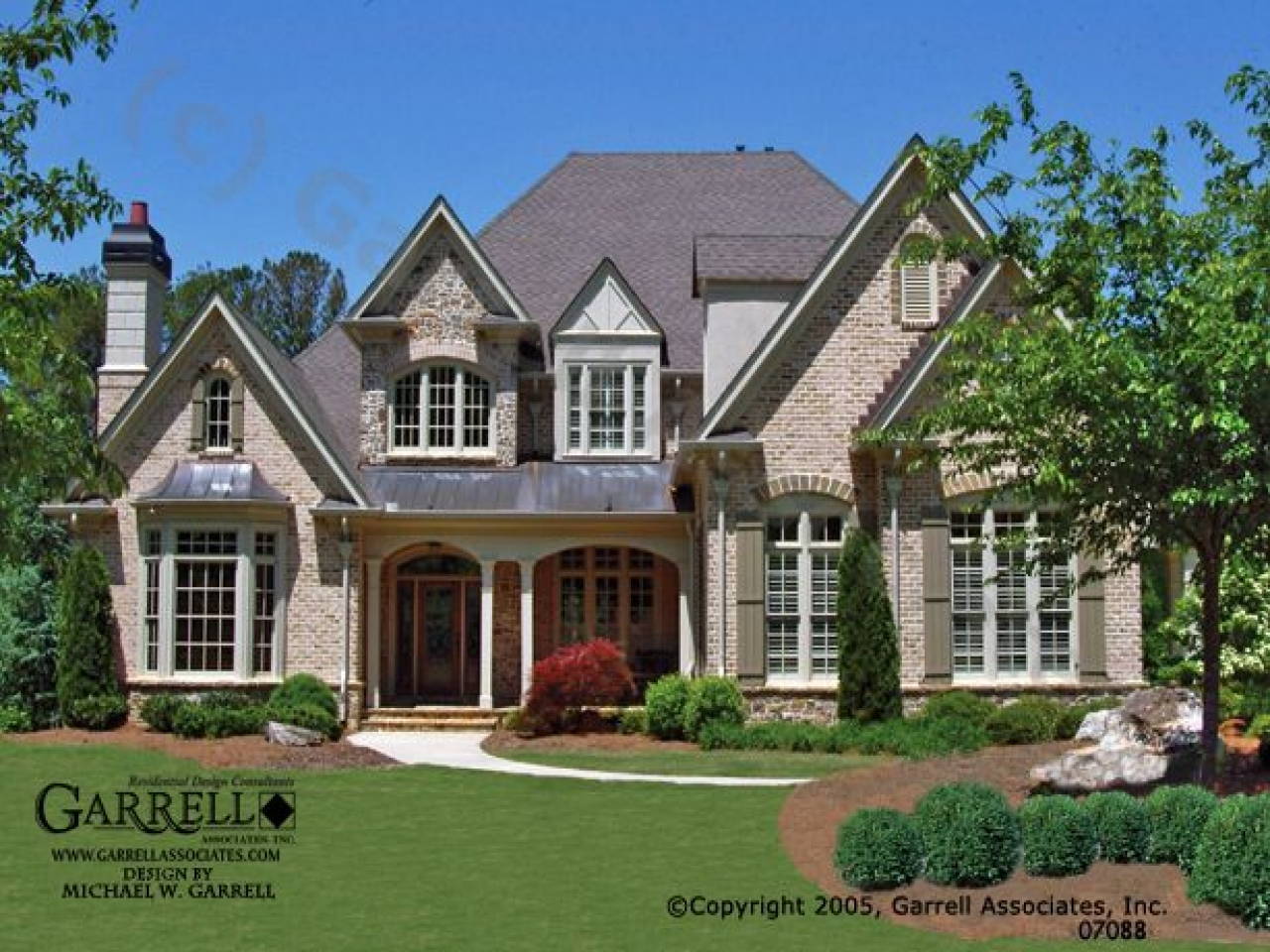 French country house plans with front porches country for Country home plans with porches