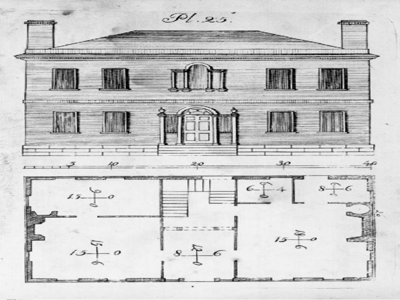 Historic Federal Style House Plans Styles