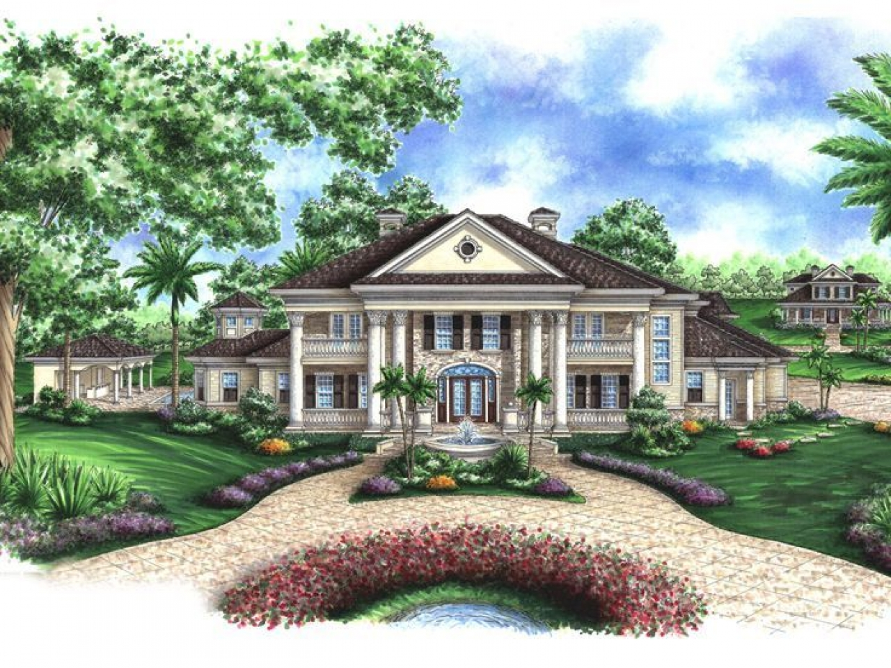 Small Colonial House Plans Southern Colonial House Plans