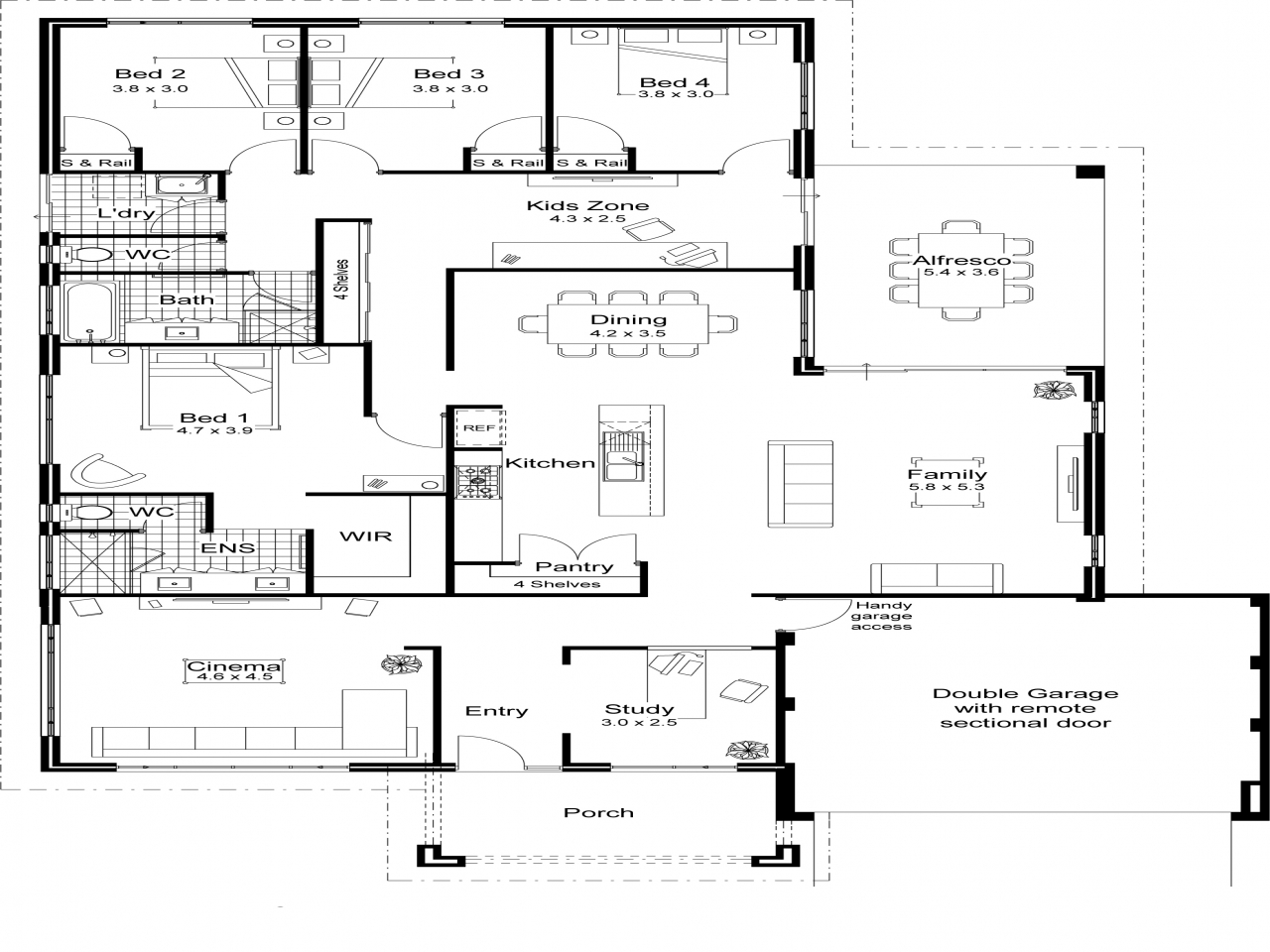 Best open floor plans award winning open floor plans for Award winning ranch house plans