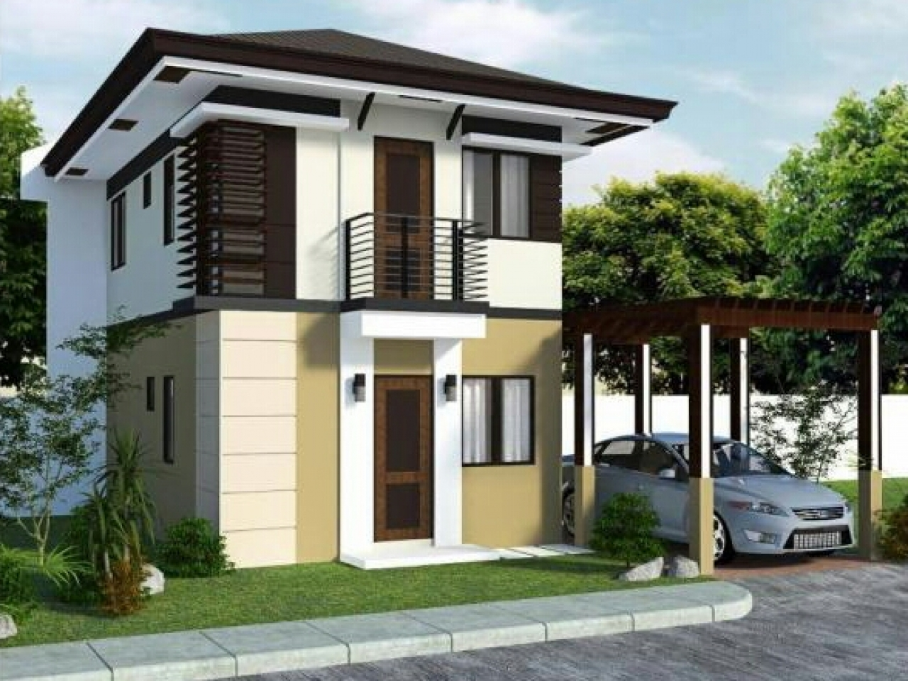 small modern homes small modern house exterior design lrg d5829d3f331d5a4d - 27+ Small Modern Exterior House Designs Background