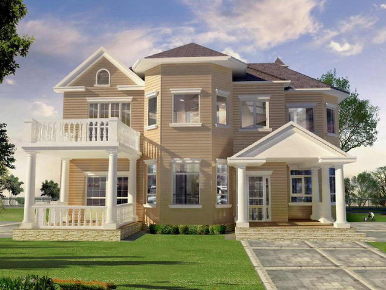 Country Home Exterior Designs Exterior Home House Design Two Story House Plans With Balconies