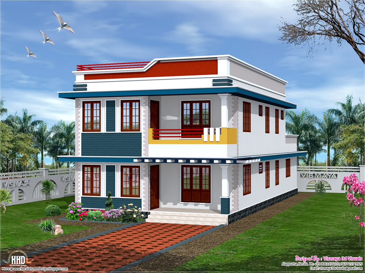 Front Elevation Of House Single Story : Front elevation indian house designs home