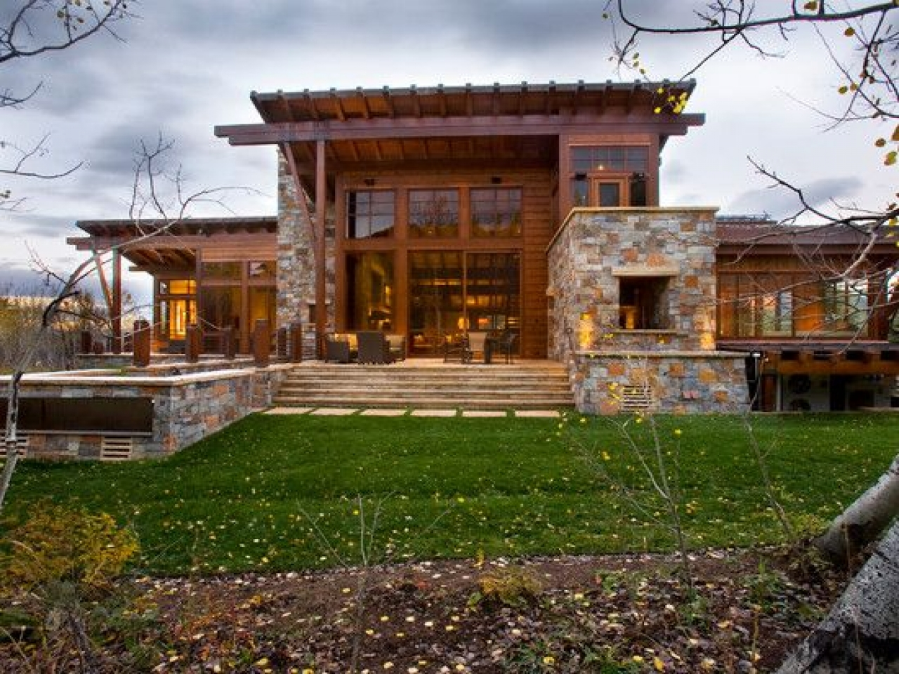 Home Exterior with Stone Designs Rustic Exterior Home ...