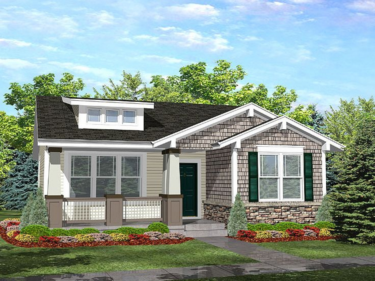 Cottage Style Bungalow House Plan Bungalow Cottage House ...