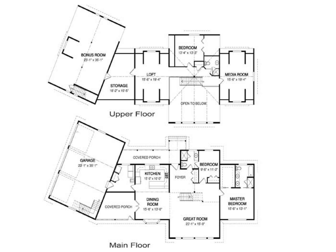 Craftsman home floor plans craftsman one story floor plans for Craftsman style open floor plans