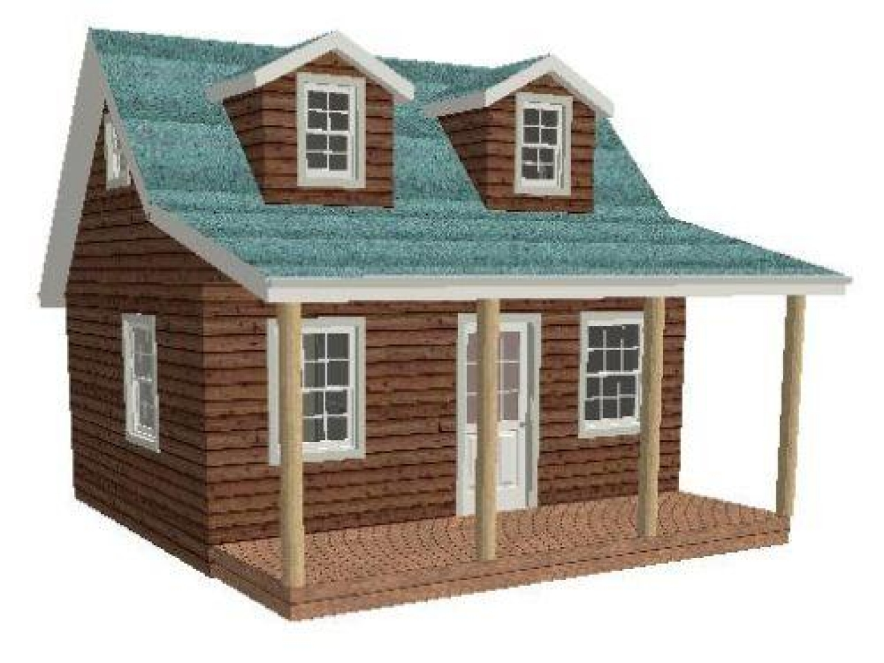 16x20 shed material list 16x20 cabin plan with loft shed for Shed roof cabin with loft