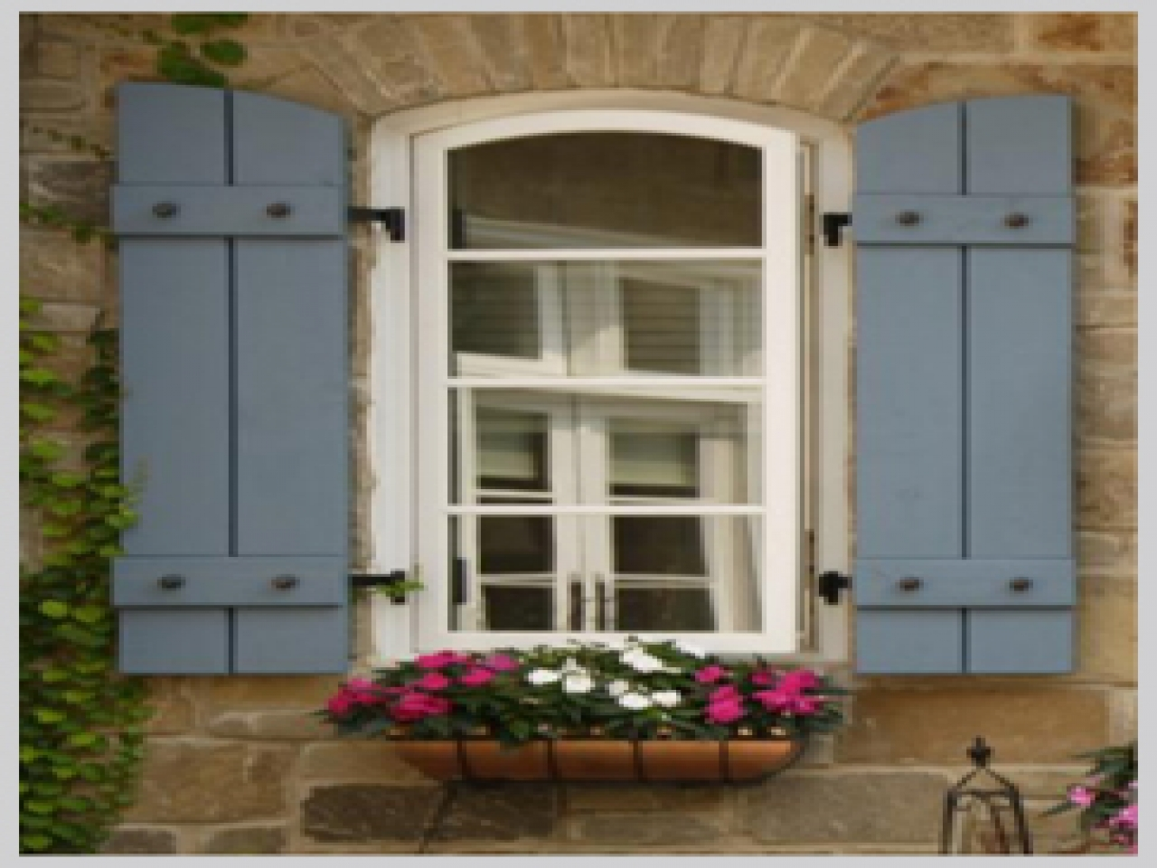 French country window shutters french exterior shutters for Country shutters exterior