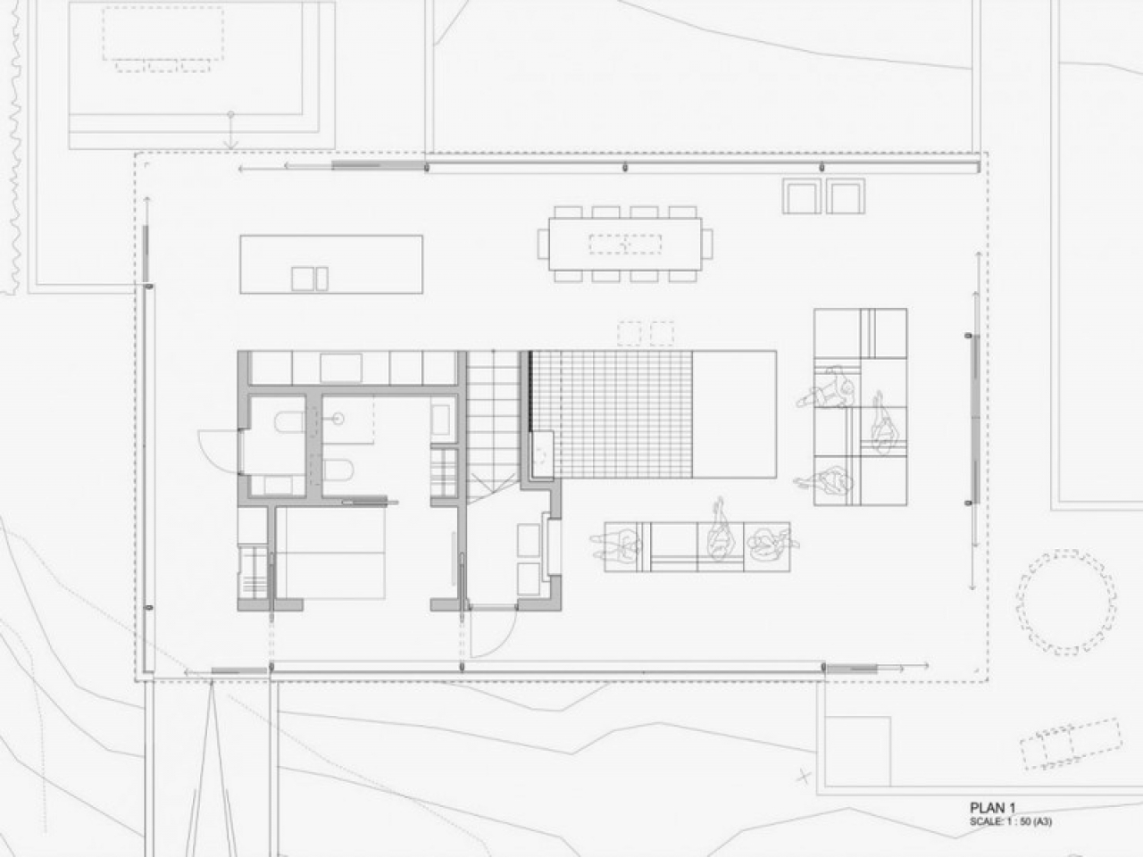 House plans with glass walls contemporary glass house for Glass house floor plans