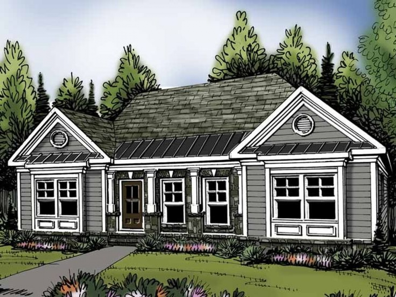 Traditional house plans 3 bedroom french country house for 4 bedroom country ranch house plans