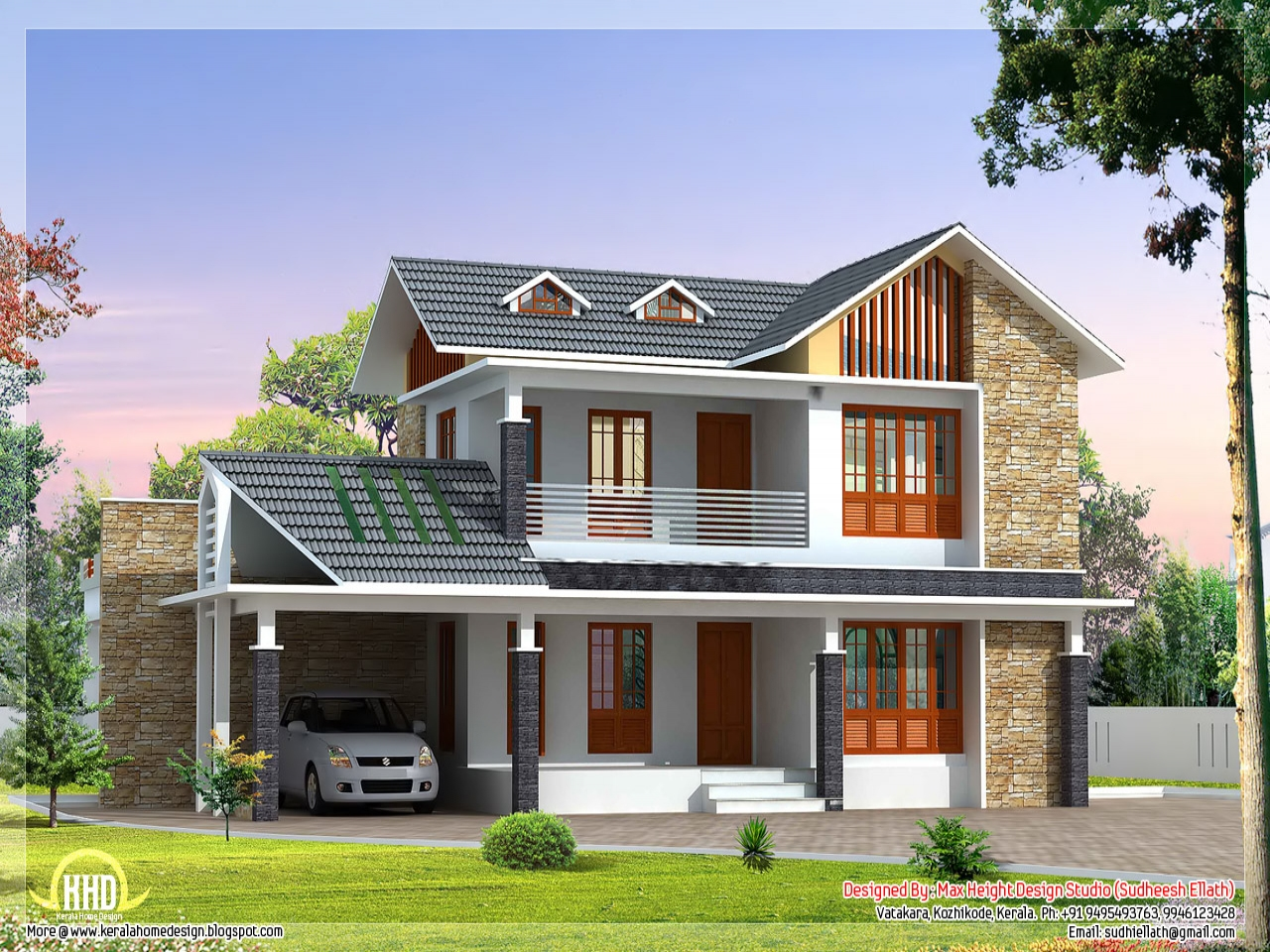 Small house exterior design beautiful villa house designs for Exterior blueprint