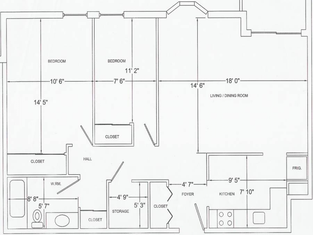 1 4 scale furniture templates printable floor plan for Blank floor plan grid