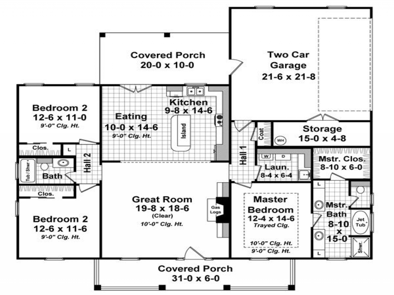 House floor plans with porches house floor plans with for Luxury ranch house plans with indoor pool