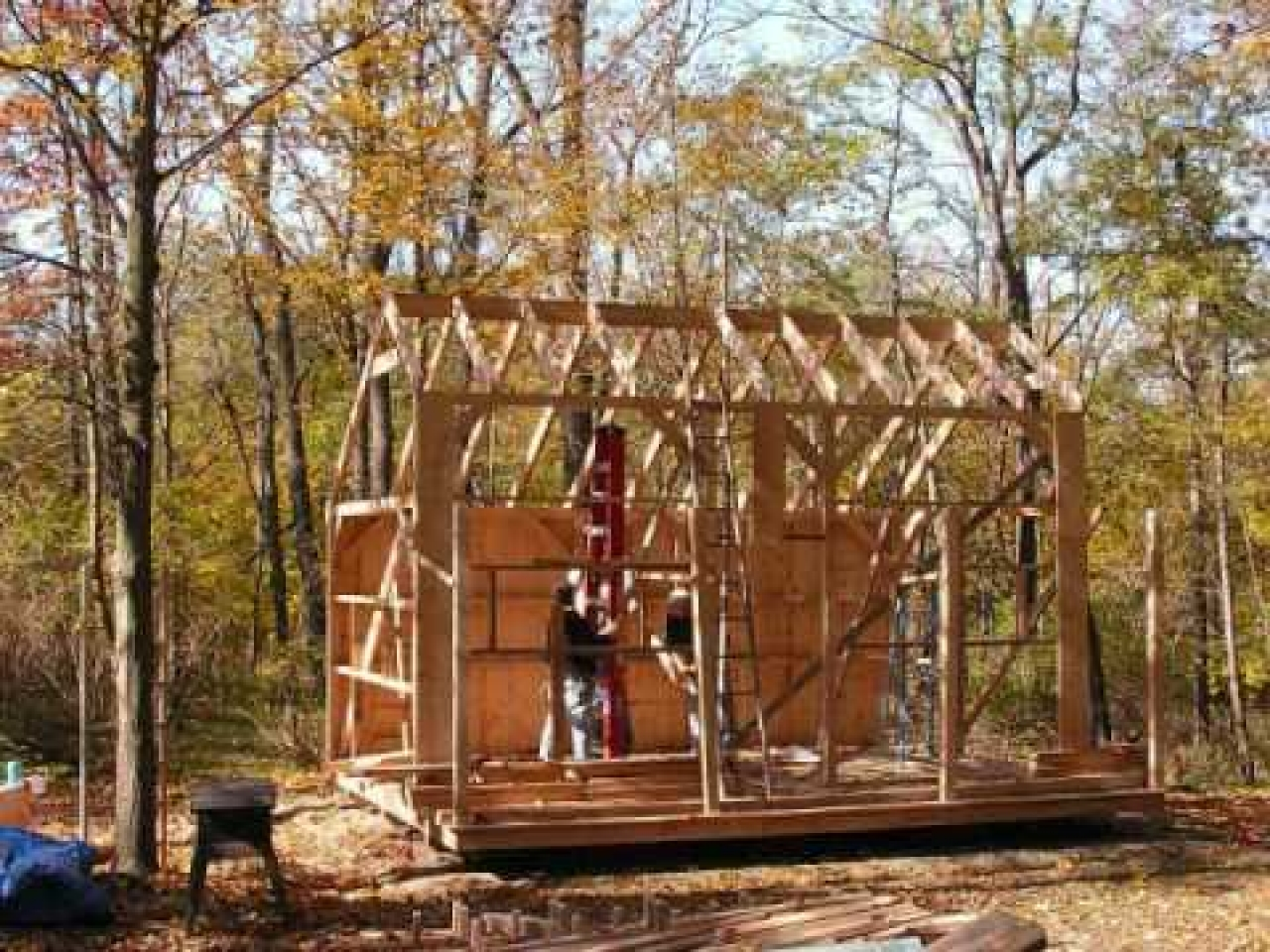 Shed Material List Cabin Plan Loft Building Guest Cottage Treesranch