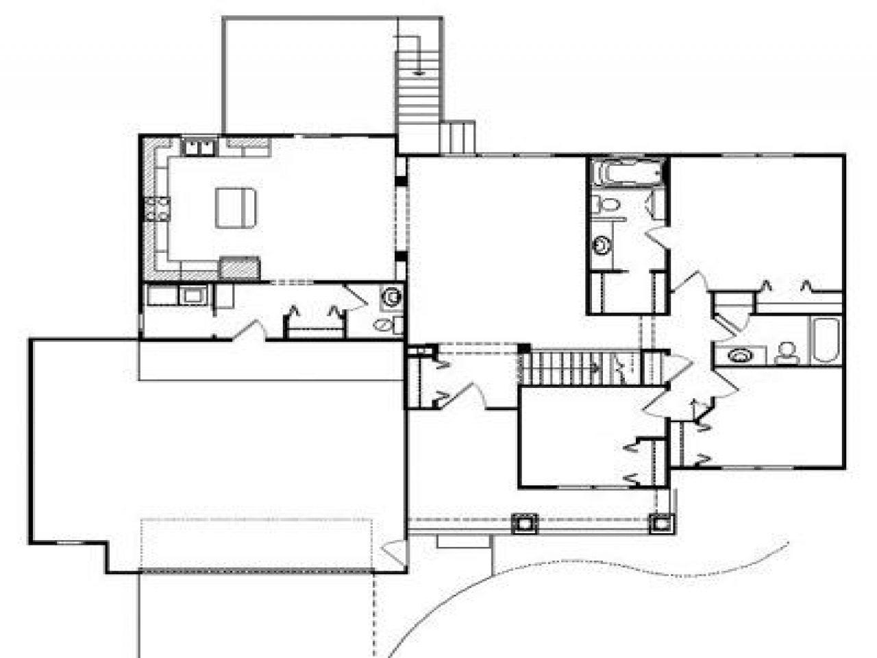 Plantation house floor plan southern style plantation for Plantation house floor plans