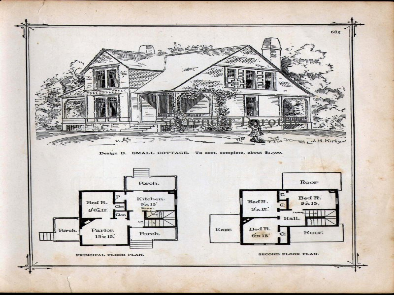 Small victorian cottage house plans small lakeside for Lakeside cabin plans
