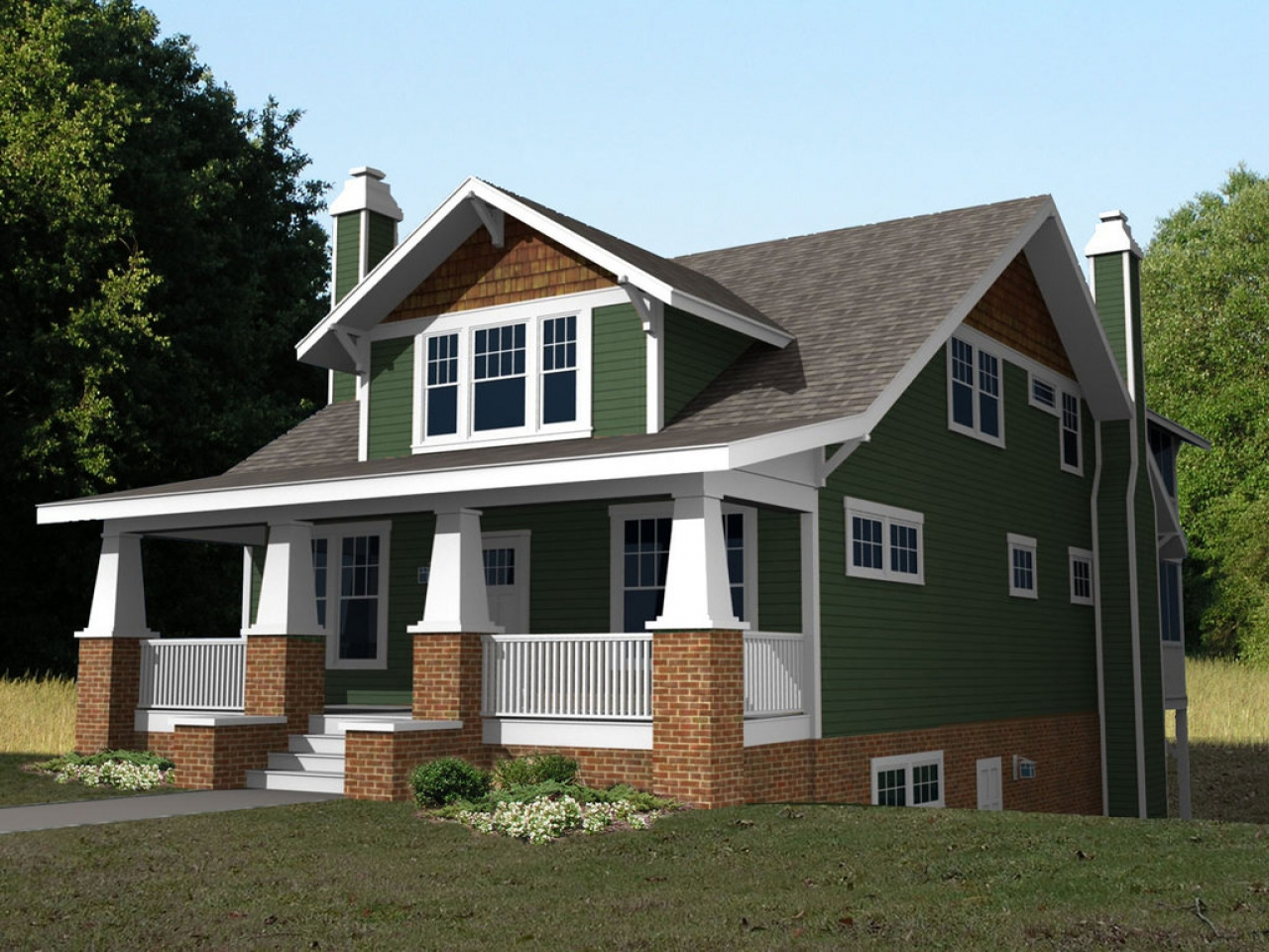 2 Story Craftsman Bungalow House Plans Second Story ...