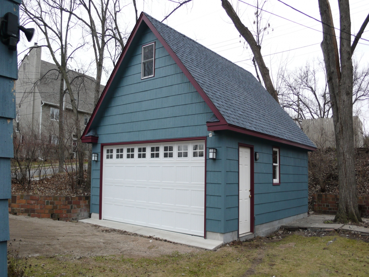 Two-Story Garages Kits Two Story Detached Garage Hip Roof ...