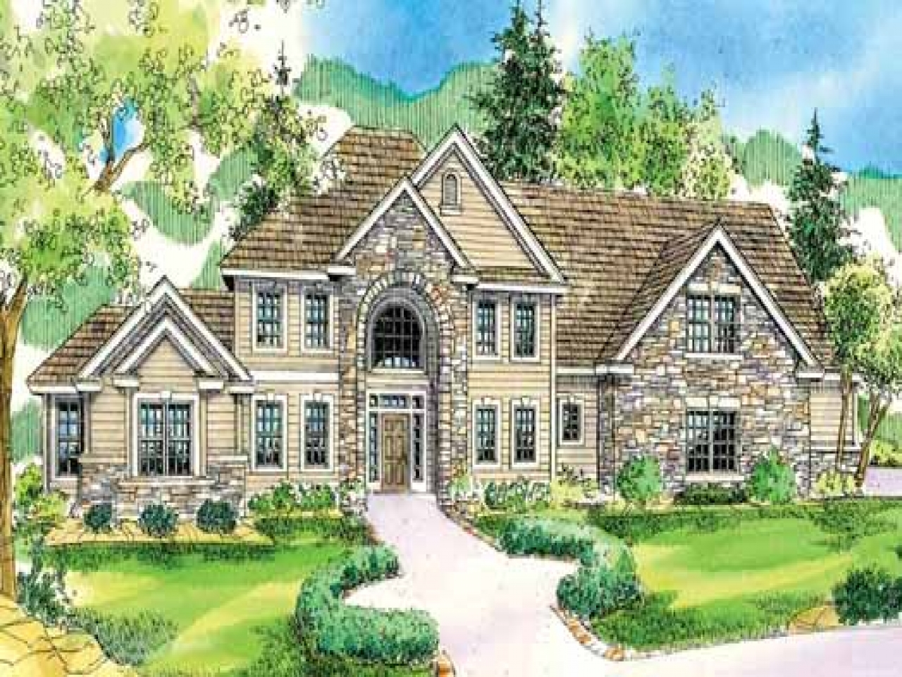 Mountain style house plans northwest style house plans for Northwest home designs