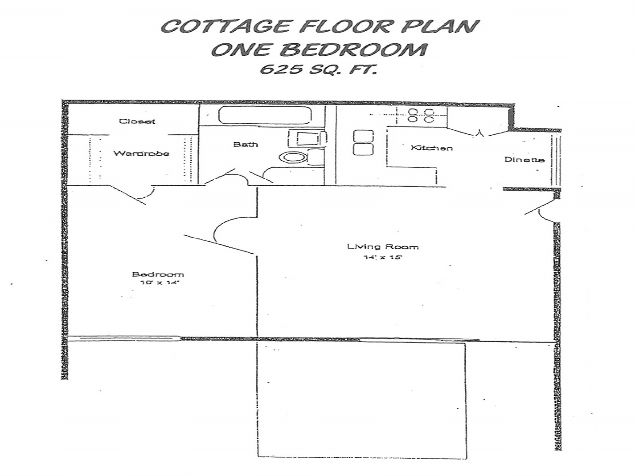 1 Bedroom Cottage Floor Plans 1 Bedroom Mobile Homes One