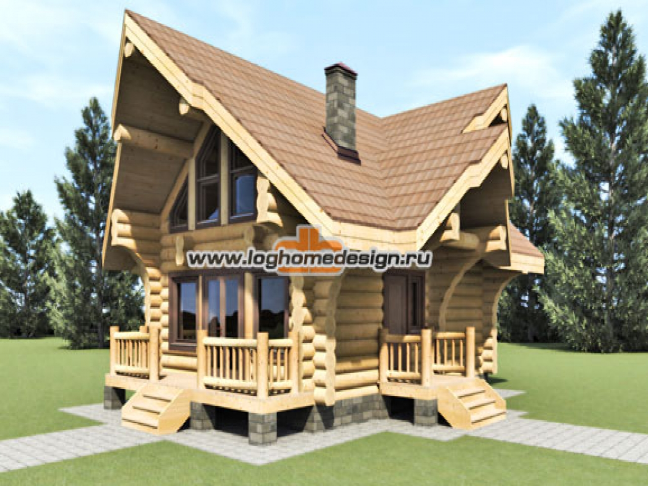 Log cabin cottage home designs rustic log cabin kits log for Rustic log home kits
