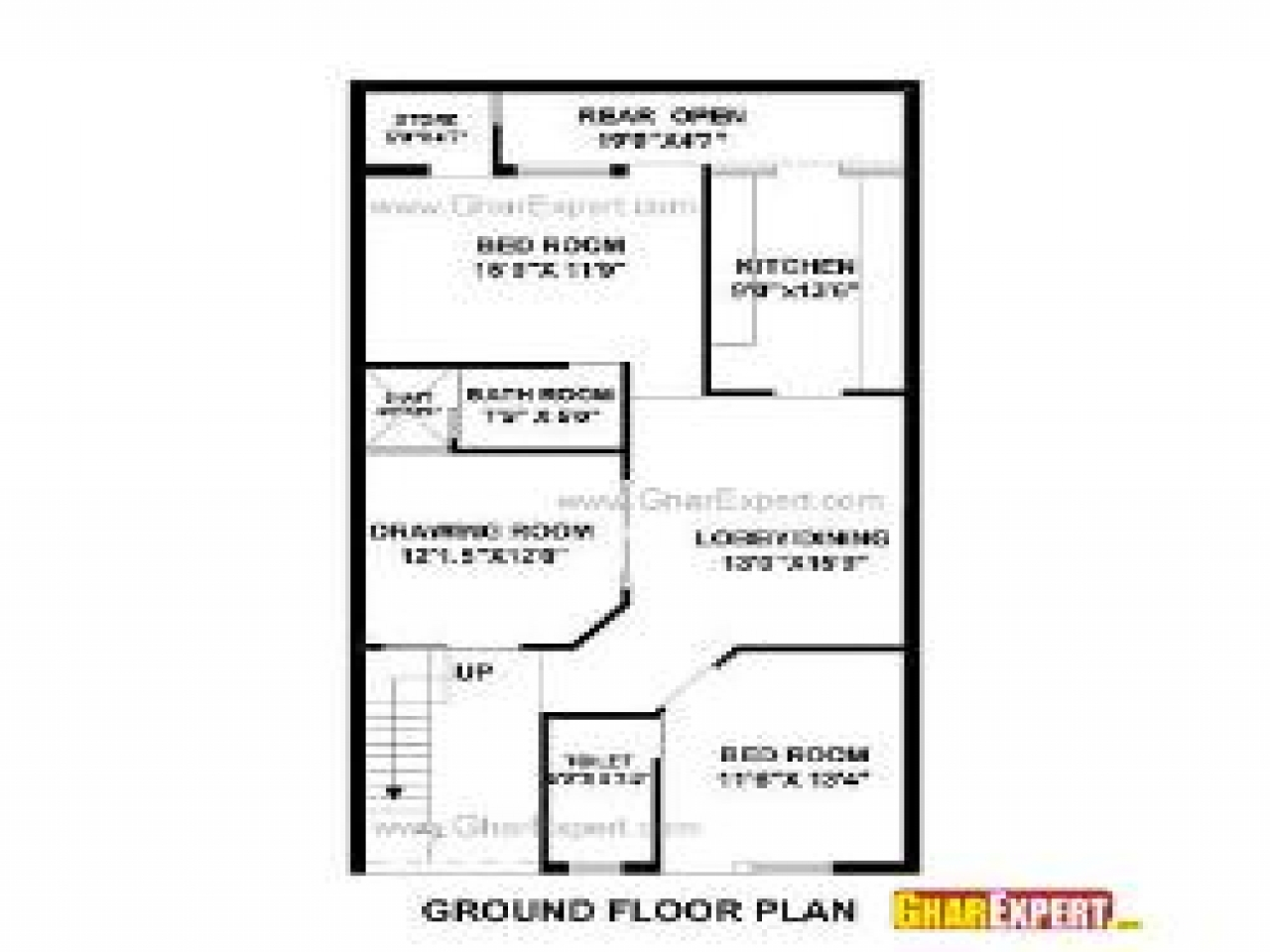 4 bedroom house plans house plans 30 by 50 feet building for Building plans cost estimate
