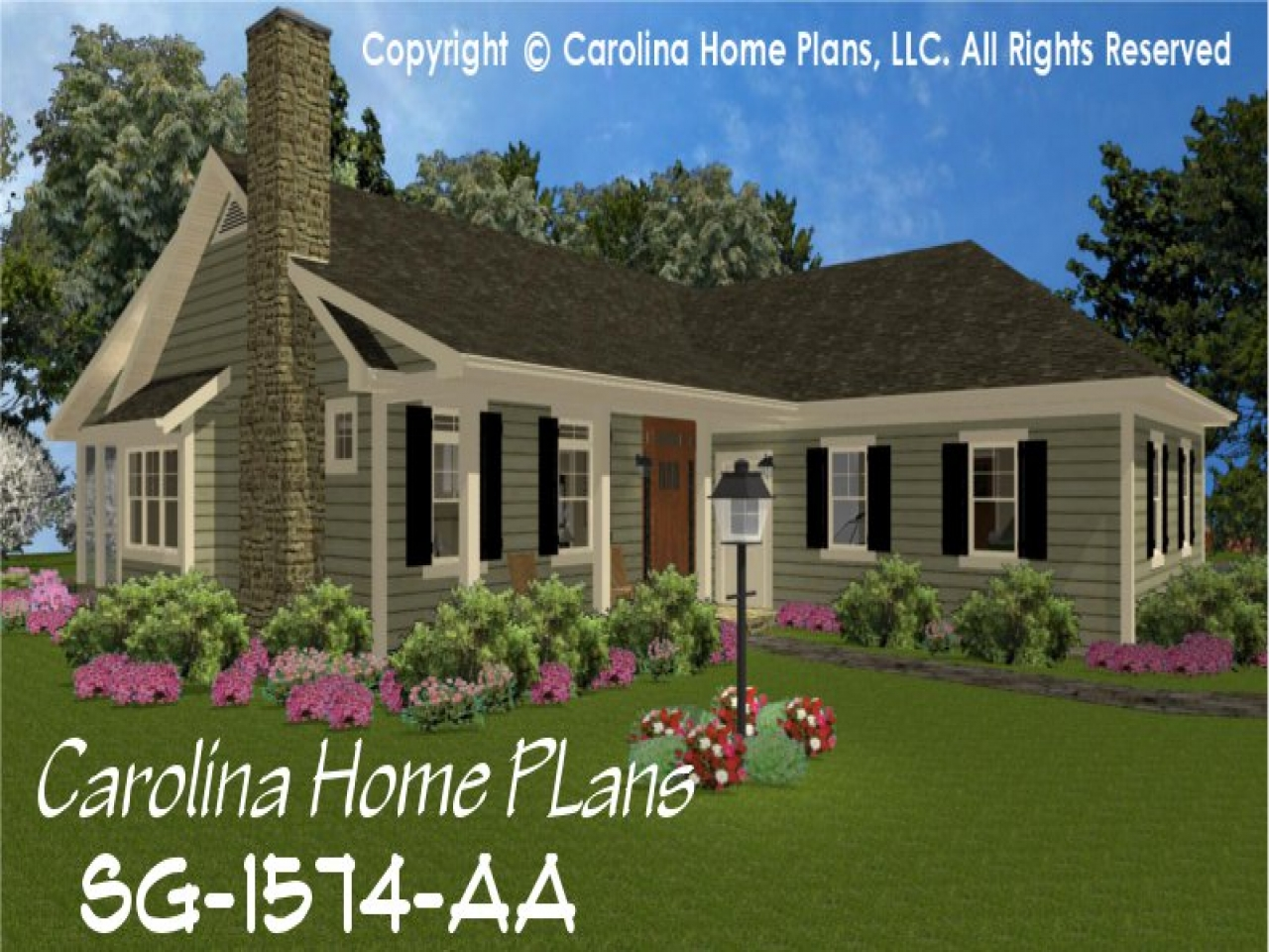 Small country homes with porch small country style home for House plans for rural properties