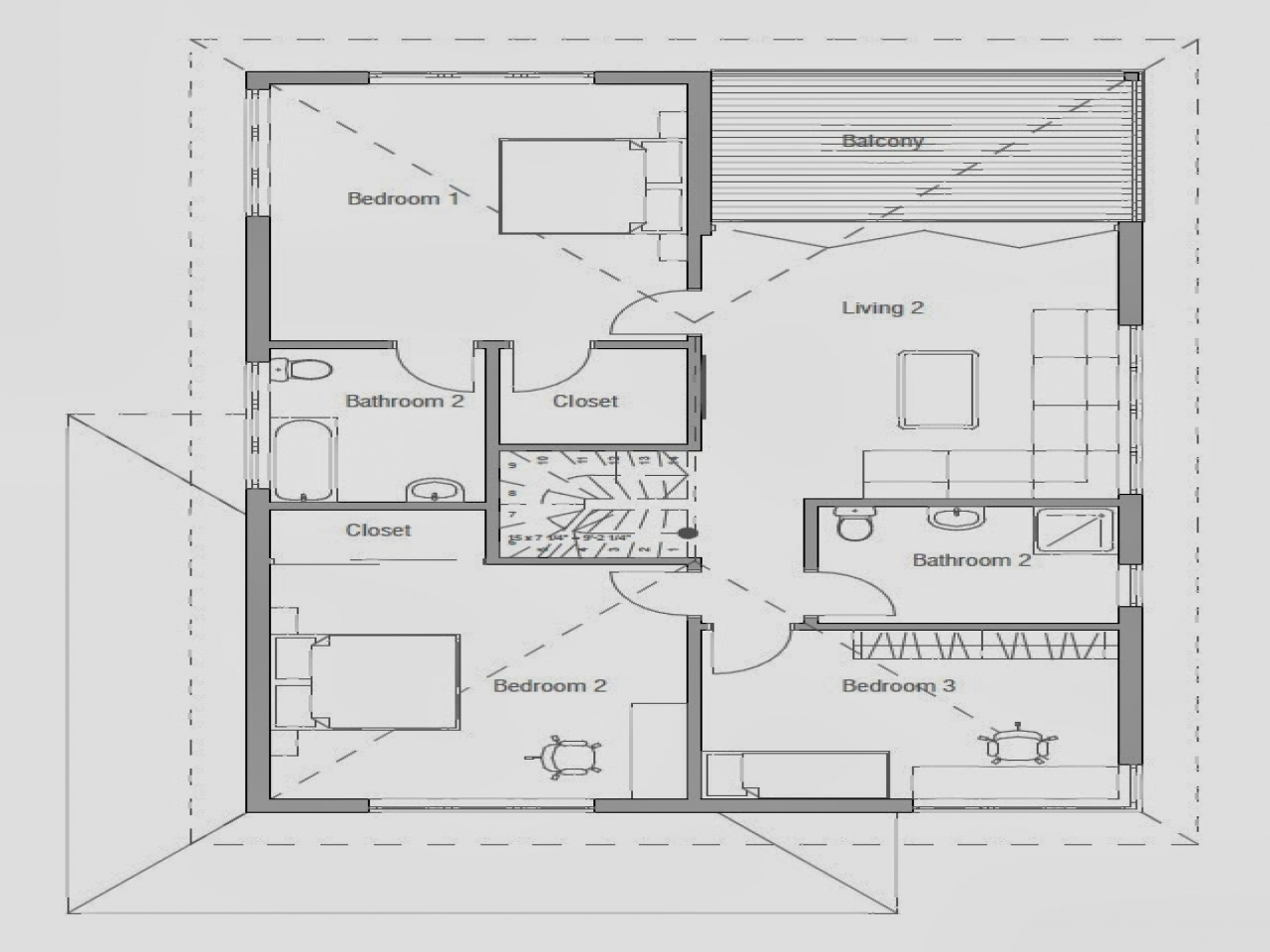 Modern small house plans affordable modern house plan for Economical house plans