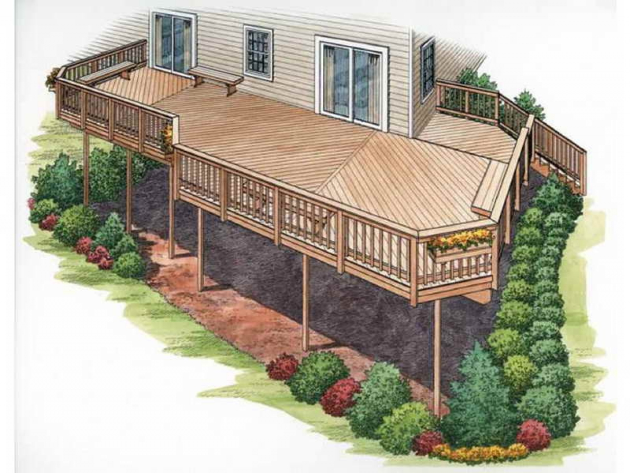 House Plans With Second Story Deck Outdoor House Plans