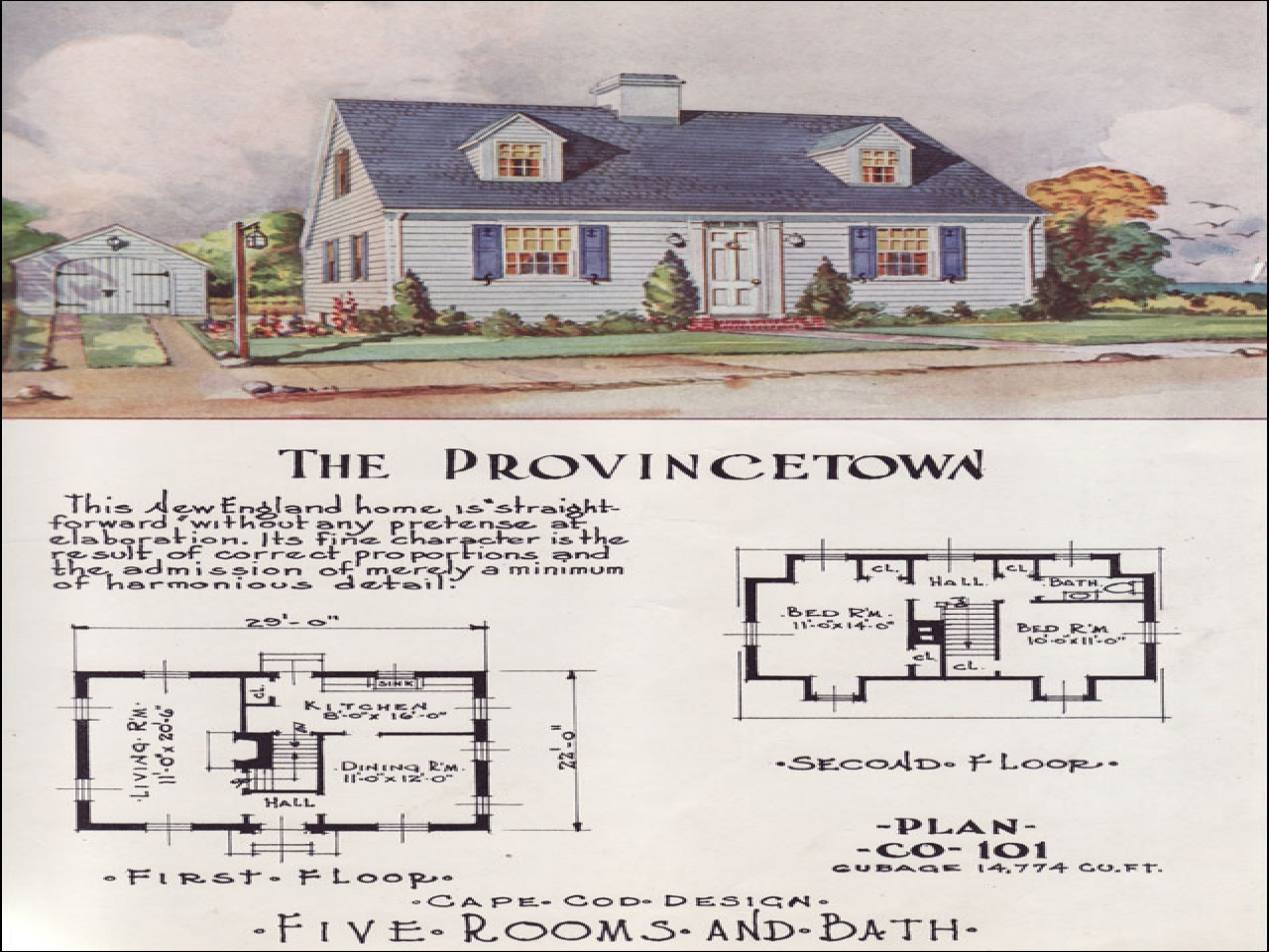 Small cape cod house plans small cape cod kitchen 1950s for Cape cod house plans