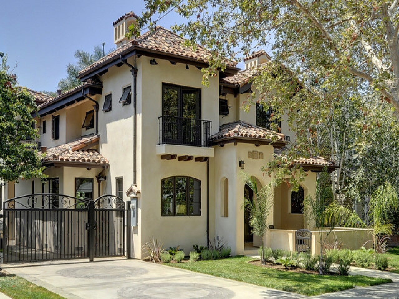 Ranch Style House Exterior Facelift Spanish Style Exterior