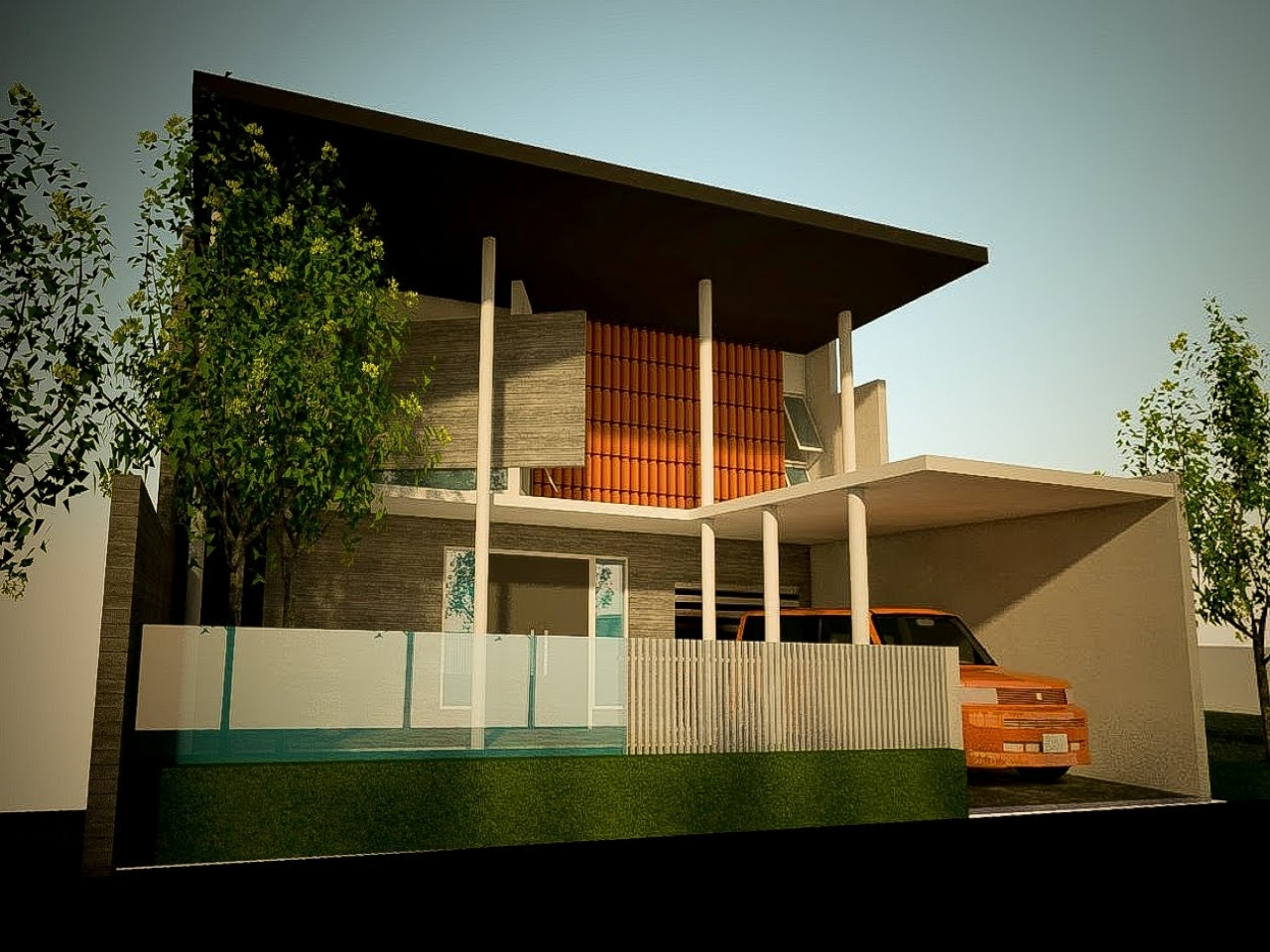 Modern minimalist house design modern minimalist house for Minimalist house blueprints