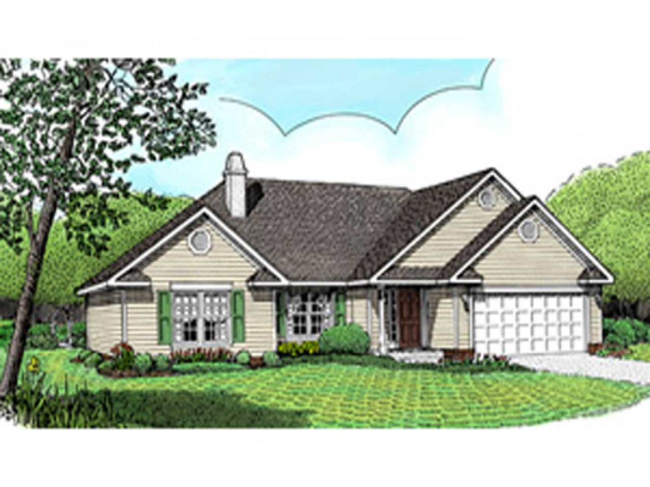 Ranch house plans with open floor plan ranch house plans for Modest home plans