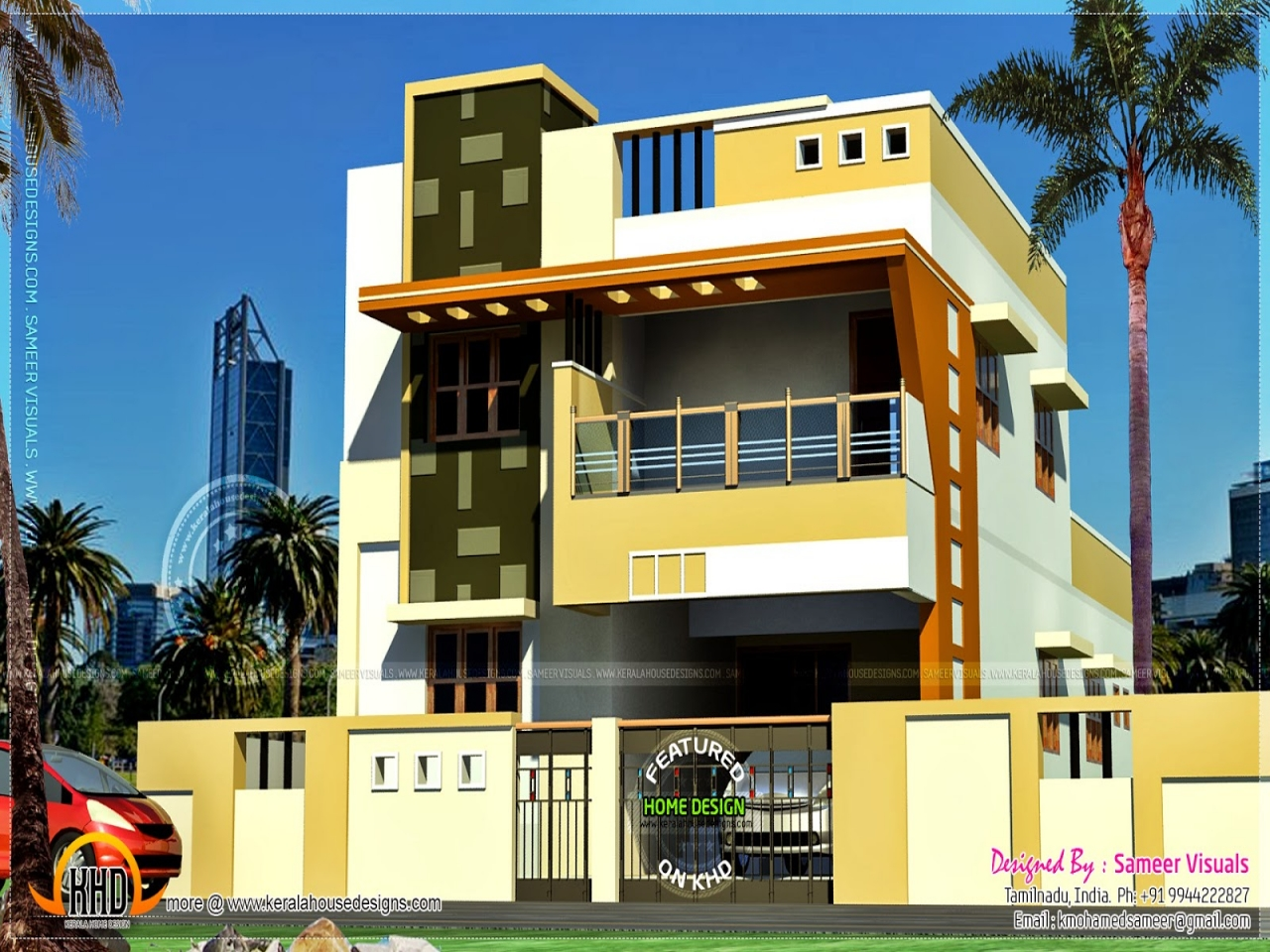 Kerala home design modern indian home design contemporary for Contemporary home designs india