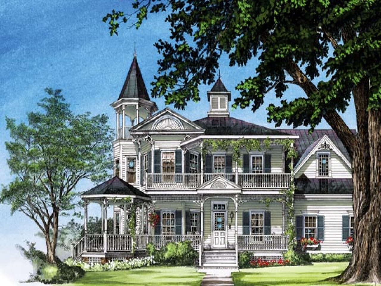 Southern victorian house plans old victorian house plans for Victorian home plans