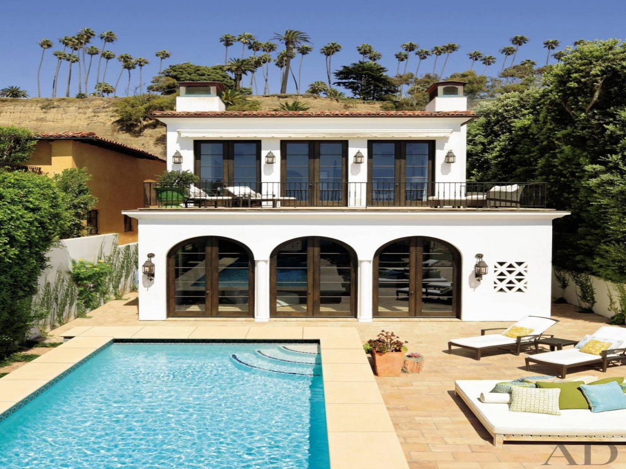 Modern Spanish Colonial Terrace Modern Spanish Colonial