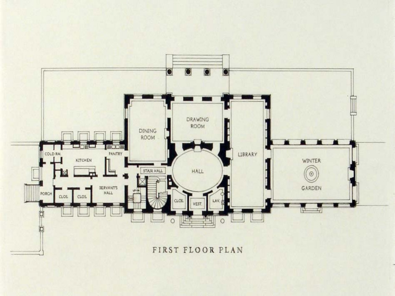 Georgian plantation style house plans georgian mansion for Georgian mansion floor plans