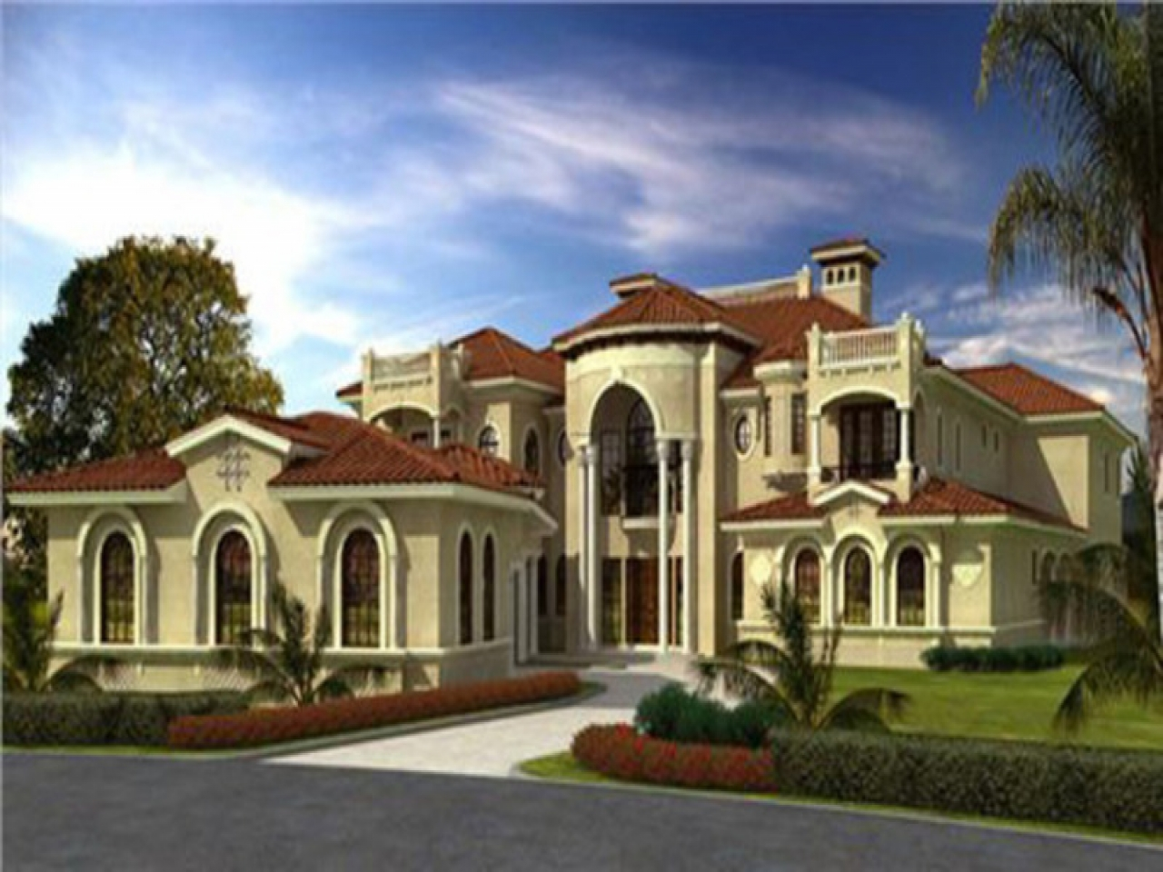 Luxury home mediterranean style house plans mediterranean for Luxury one story home designs