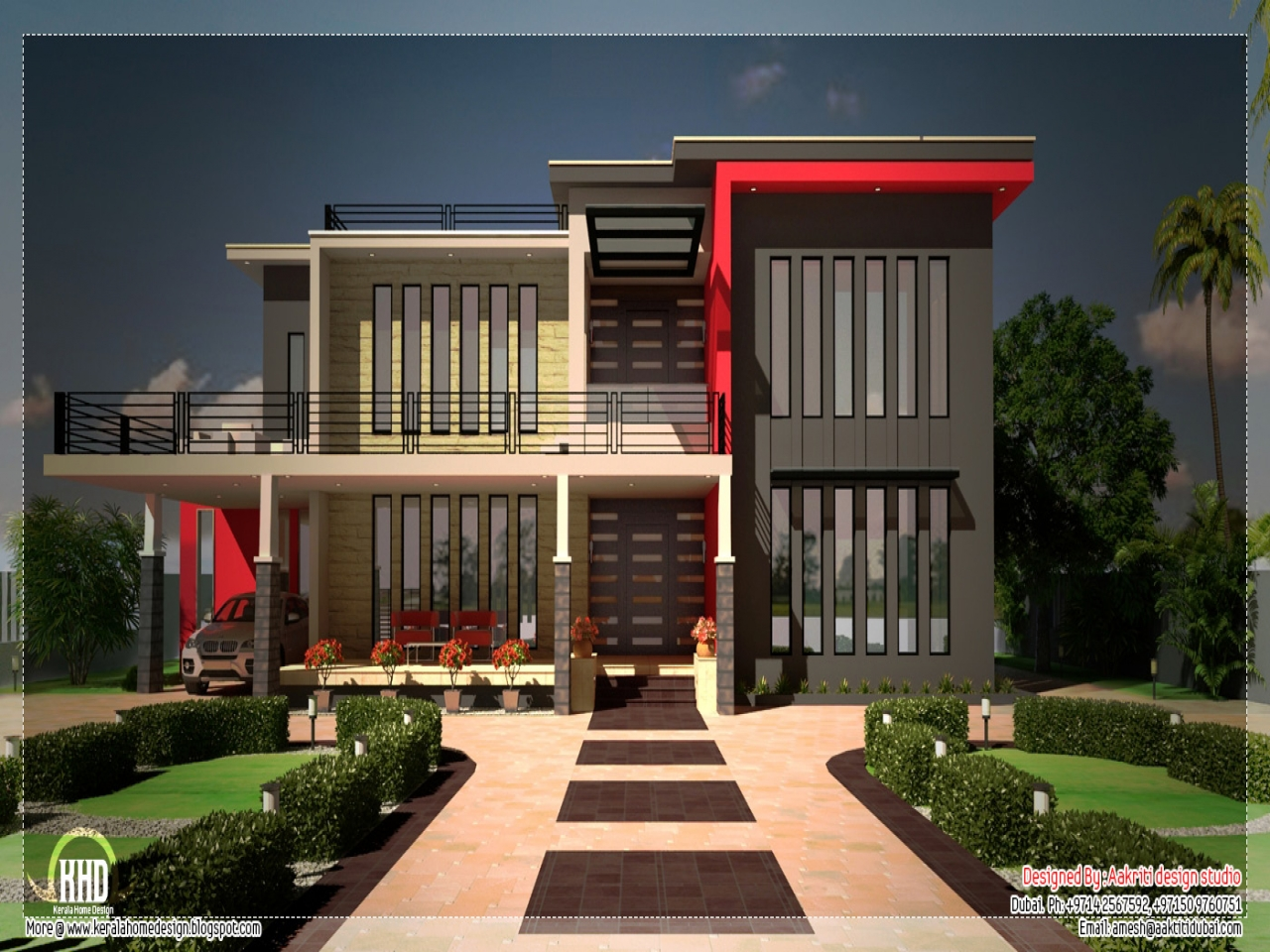 Beautiful house plans in kerala beautiful contemporary for Modern house 52