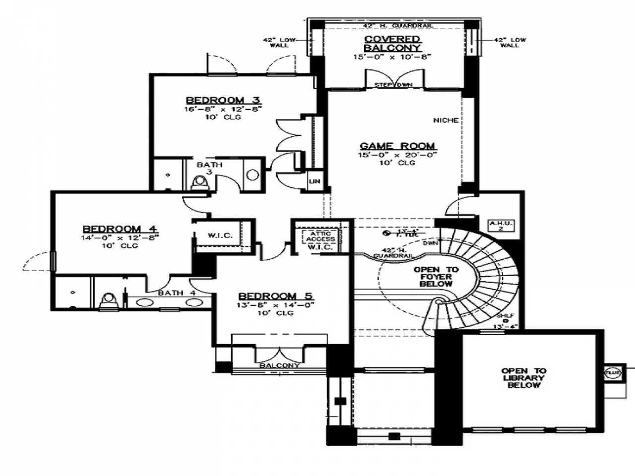 Blueprints For Houses With Open Floor Plans Floor Plan 2nd