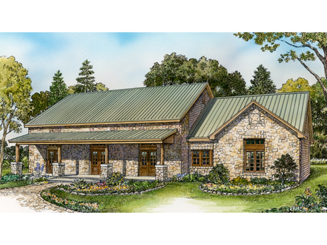 Rustic ranch style house plans western ranch house plans for Western ranch house plans