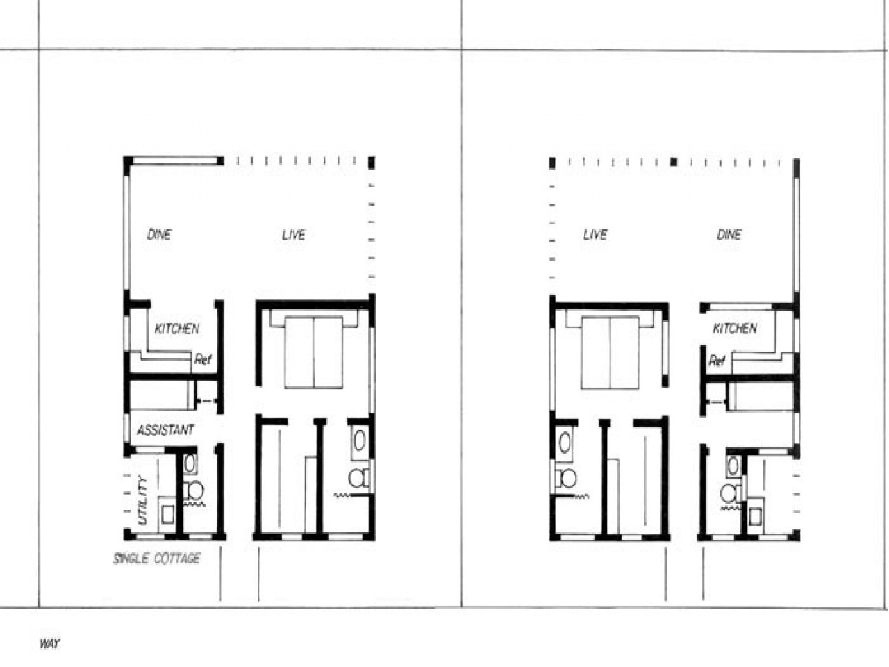 Cottage cabin bedroom 1 bedroom cottage house plans one for 1 bedroom cottage floor plans