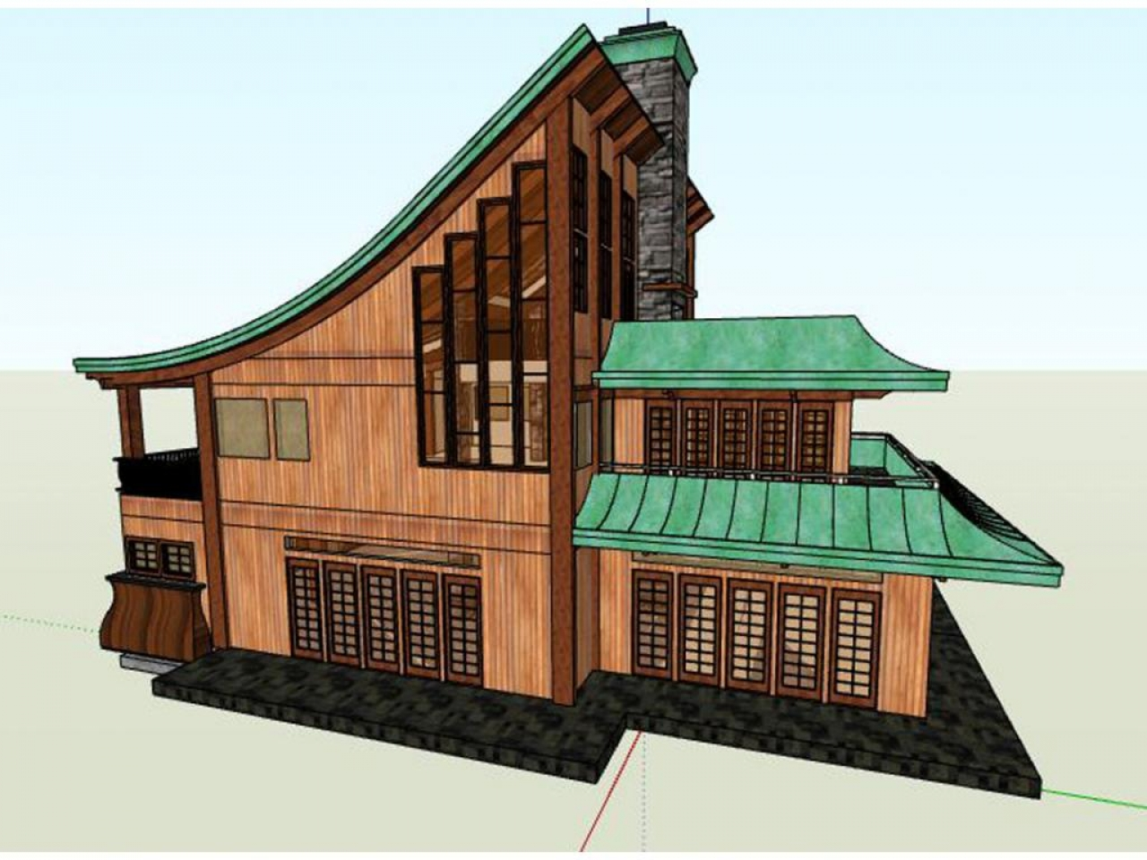 Japanese traditional house plans asian house plan arato for Small traditional japanese house design