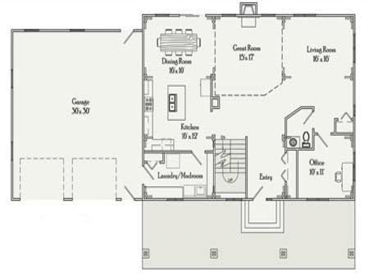 Rectangular house plans 3 bedroom 2 bath simple for Floor plans 3 bedroom 2 bath
